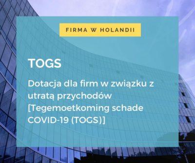 Dotacja dla firm w związku z utratą przychodów holandia